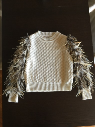 My feather sweater