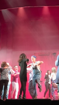 On stage at Priscilla