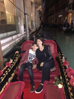 Night time gondola ride