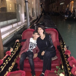 Night time gondola ride
